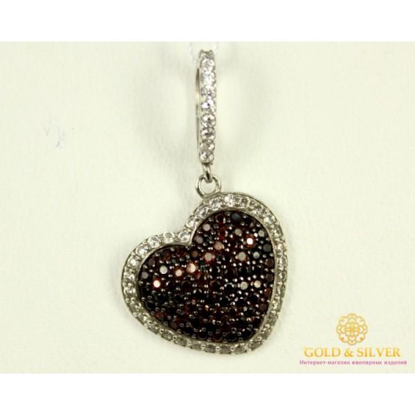 Серебряный Подвес Сердце 3637р , Gold & Silver Gold & Silver, Украина
