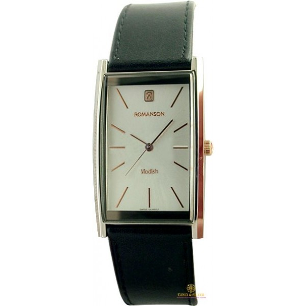 Мужские Часы ROMANSON DL2158CMR2T WHITE , Gold & Silver Gold & Silver, Украина