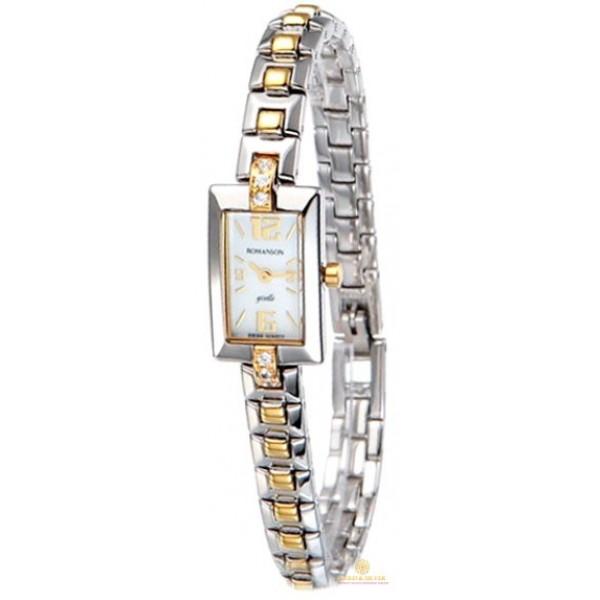Женские Часы ROMANSON RM5113QLR2T WH , Gold & Silver Gold & Silver, Украина