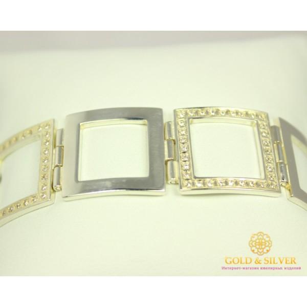 Серебряный Браслет 925 проба. Браслет серебряный, звено Квадрат 4034 , Gold &amp Silver Gold & Silver, Украина