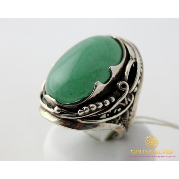 Серебряное Кольцо 925 проба. Женское кольцо Нефрит Дама 103291 , Gold & Silver Gold & Silver, Украина