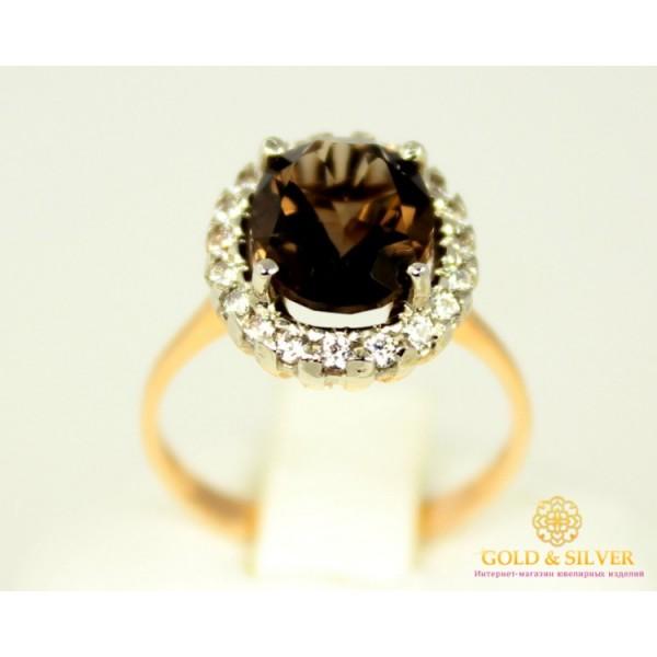Золотое кольцо 585 проба. Женское золотое кольцо Дымчатый Кварц 11610 , Gold &amp Silver Gold & Silver, Украина