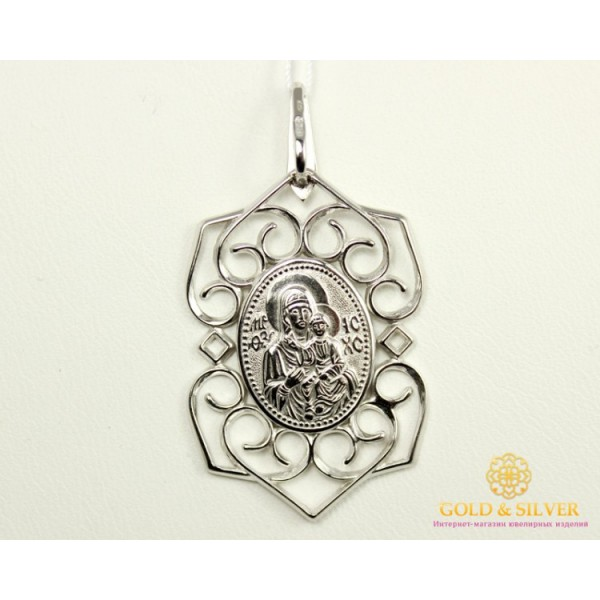 Серебряная Нательная Икона 146504с , Gold & Silver Gold & Silver, Украина
