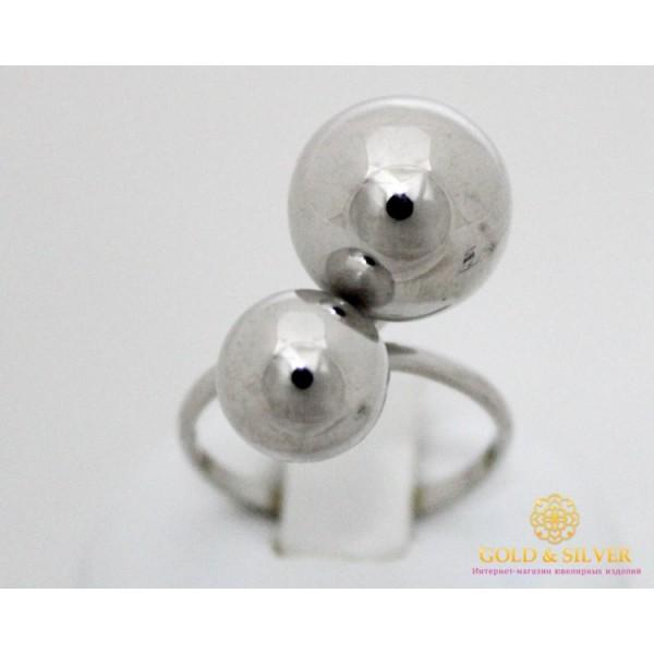Серебряное кольцо 925 проба. Женское Кольцо с серебра, без вставок. Поцелуй (Шары) 391078с , Gold &amp Silver Gold & Silver, Украина