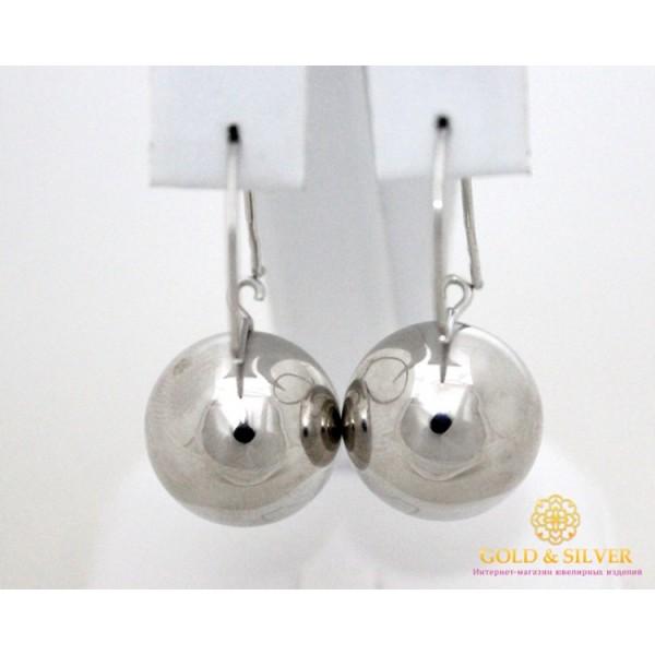 Серебряные Серьги 925 проба. Серьги серебряные женские шары 470129с , Gold & Silver Gold & Silver, Украина