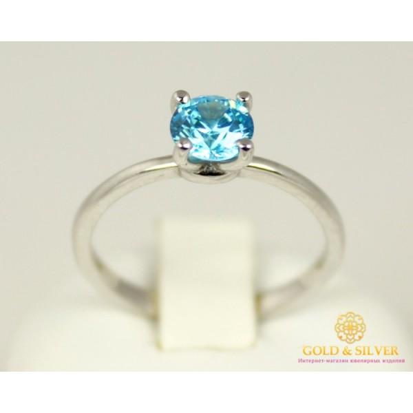 Серебряное кольцо 925 проба. Женское Кольцо с голубым камушком. 320905с , Gold &amp Silver Gold & Silver, Украина