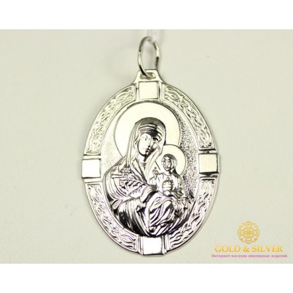 Серебряная Нательная Икона 925 проба. Подвес серебряный Божья Матерь 100279с , Gold & Silver Gold & Silver, Украина