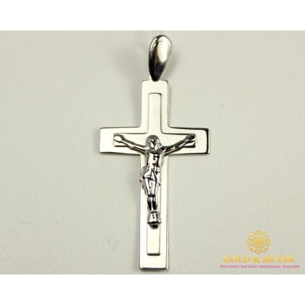 Серебряный Крест 925 проба. Крестик прямоугольный. 210072с , Gold & Silver Gold & Silver, Украина