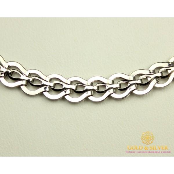 Серебряная Цепь 925 проба. Женская серебряная цепочка, плетение Фараон, 50 сантиметров, 10,94 грамма. 800071с , Gold & Silver Gold & Silver, Украина