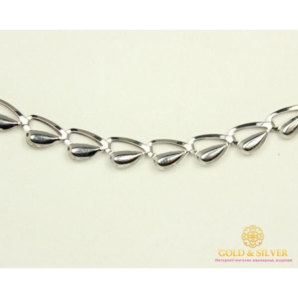Серебряная Цепь 925 проба. Женская серебряная цепочка, плетение ракушка, 55 сантиметров. 800004с , Gold & Silver Gold & Silver, Украина