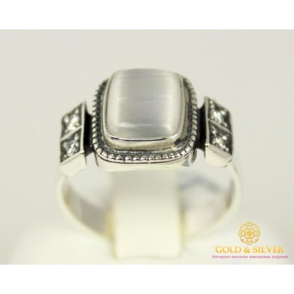 Серебряное кольцо 925 пробы. Женское серебряное Кольцо с вставкой Улексит 1166 , Gold &amp Silver Gold & Silver, Украина