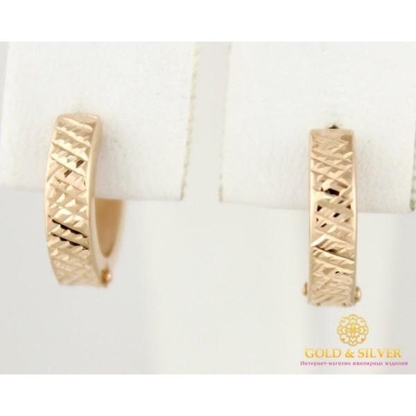 Золотые серьги 585 проба. женские Серьги Конго Мини с красного золота 1,19 грамма 470334 , Gold & Silver Gold & Silver, Украина