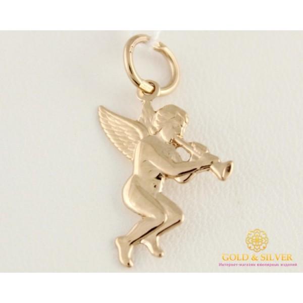 Золотой Кулон 585 проба. Подвес Ангел с красного золота, 100180 0,44 грамма , Gold & Silver Gold & Silver, Украина