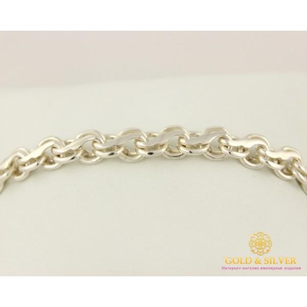 Серебряный Браслет 925 проба. Браслет, плетение Ручеек 40544 , Gold & Silver Gold & Silver, Украина