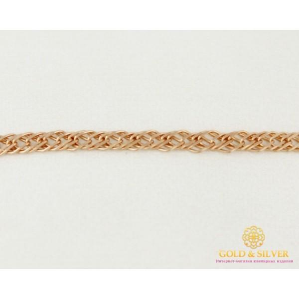 Золотой Браслет 585 проба. Браслет с красного золота, плетение Тройной Ромб 50233303041 , Gold & Silver Gold & Silver, Украина