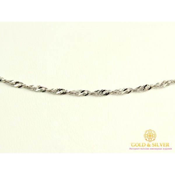 Золотая Цепь 585 проба. Цепочка с белого золота, плетение Сингапур, 45 сантиметров  70127202551 , Gold & Silver Gold & Silver, Украина