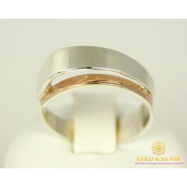 Серебряное кольцо 925 проба. Женское Кольцо с вставкой Золота 375 проба. 00110 , Gold & Silver Gold & Silver, Украина
