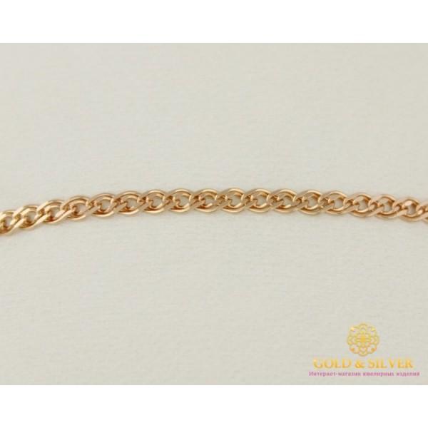Золотой браслет 585 пробы. Женский браслет плетение Нона 50220204041 18 размер , Gold & Silver Gold & Silver, Украина