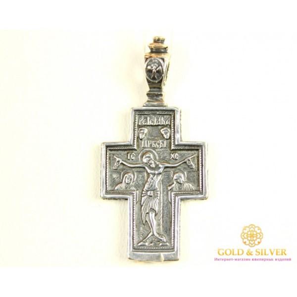 Серебряный Крест 925 проба. Крест серебряный широкий. 3002 , Gold & Silver Gold & Silver, Украина