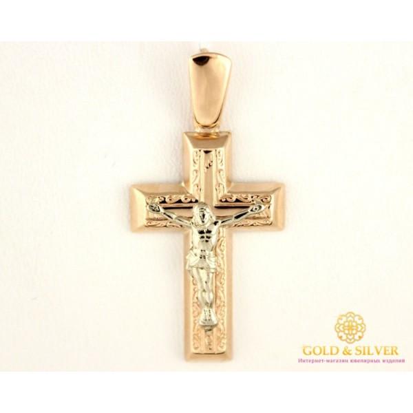 Золотой Крест 585 проба. Крест Красное Белое Золото 222025 , Gold & Silver Gold & Silver, Украина