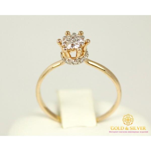 Золотое кольцо 585 проба. Женское Кольцо с красного золота Корона для принцессы 320950 , Gold & Silver Gold & Silver, Украина
