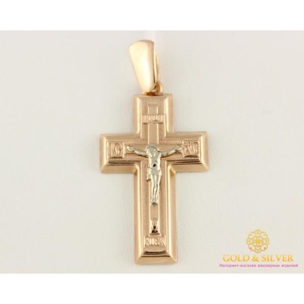 Золотой Крест 585 проба. Крест с красного и белого золота 3,33 грамма 222019 , Gold &amp Silver Gold & Silver, Украина