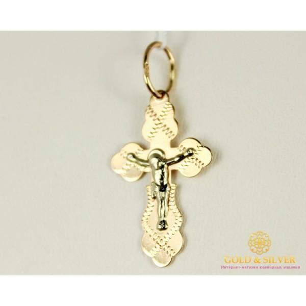Золотой Крест 585 проба. Крест с Красного и Белого золота 1,04 грамма 230023 , Gold & Silver Gold & Silver, Украина