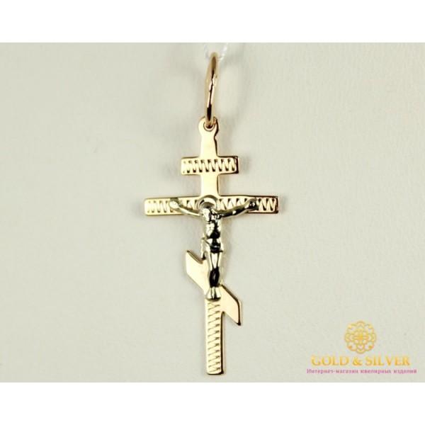 Золотой Крестик Белое и Красное Золото 0,76 грамма 230068 , Gold &amp Silver Gold & Silver, Украина
