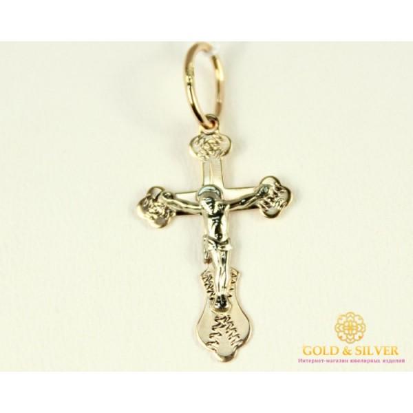 Золотой Крест 585 проба. Крест Красное и Белое золото 0,69 грамма 230009 , Gold & Silver Gold & Silver, Украина