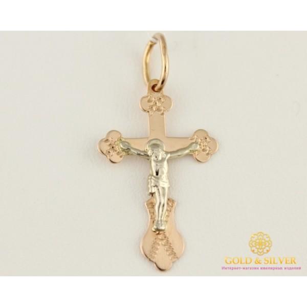 Золотой Крест 585 проба. Крест красное и белое золото 0,76 грамма 230032 , Gold & Silver Gold & Silver, Украина
