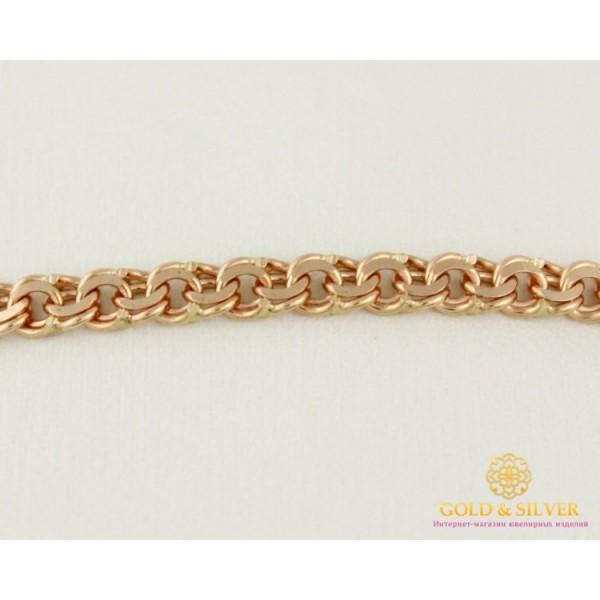 Золотой Браслет 585 проба. Браслет с красного золота, плетение Бисмарк 5,45 грамма 19 размер 889026 , Gold & Silver Gold & Silver, Украина