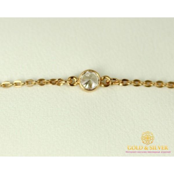 Золотой Браслет 585 проба. Женский браслет с красного золота, с камнями фианита 1,38 грамма 820116 , Gold & Silver Gold & Silver, Украина
