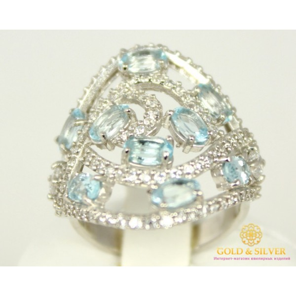Серебряное кольцо 925 проба. Женское Кольцо Жар-птица топаз SKY 17 размер 16389р , Gold & Silver Gold & Silver, Украина