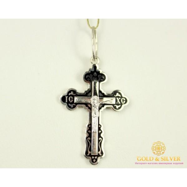 Серебряный Крест Эмаль черная 3,59 грамма 150 , Gold & Silver Gold & Silver, Украина