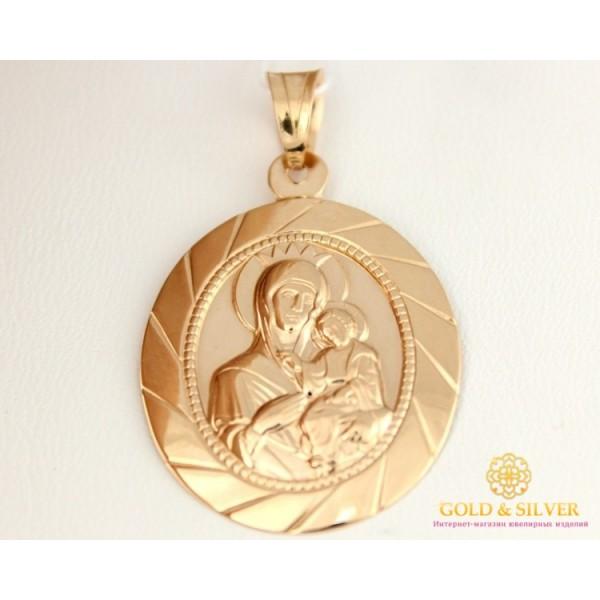Золотая нательная Икона 585 проба. Подвес с красного золота Божья Матерь красное золото 1,34 грамма 100141 , Gold & Silver Gold & Silver, Украина