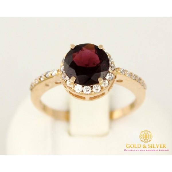 Золотое Кольцо 585 проба. Женское кольцо с красного золота, с вставкой гранат. 2,8 грамма 11923 , Gold &amp Silver Gold & Silver, Украина