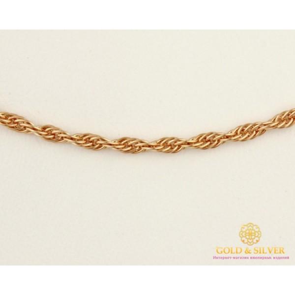 Золотая Цепь 585 проба. Цепочка с красного золота, плетение Корда 50 сантиметров, 4,25 грамма 501023030 , Gold & Silver Gold & Silver, Украина