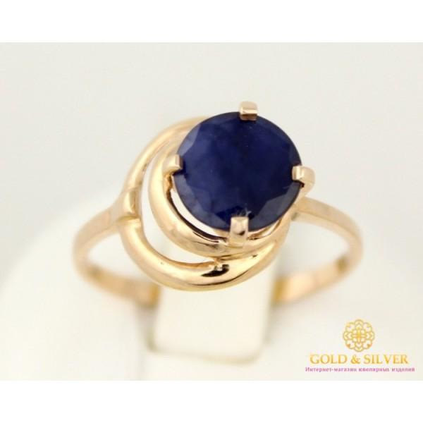 Золотое Кольцо 585 проба. Женское кольцо с красного золота, с вставкой Сапфир 2,48 грамма 11514 , Gold & Silver Gold & Silver, Украина