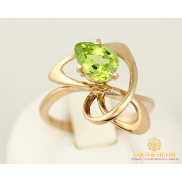 Золотое Кольцо 585 проба. Женское кольцо с красного золота с вставкой Хризолит 2,97 грамма 11319 , Gold & Silver Gold & Silver, Украина