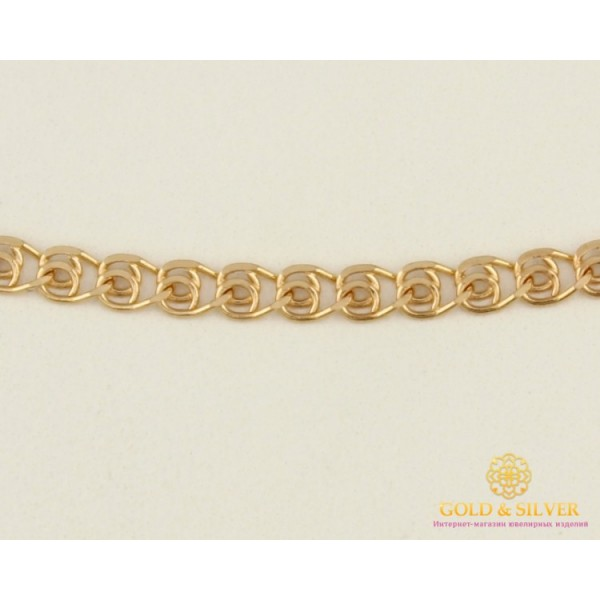 Золотая Цепь 585 проба. Женская цепочка с красного золота, Лав (Love), 50 сантиметров 50123103041 , Gold & Silver Gold & Silver, Украина
