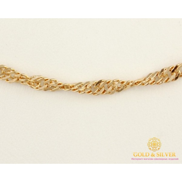 Золотая Цепь 585 проба. Цепочка с красного золота, плетение Сингапур, 45 сантиметров 50127204051п , Gold & Silver Gold & Silver, Украина