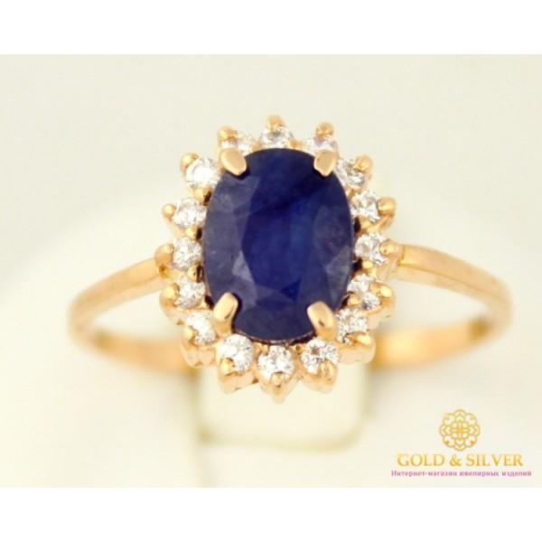 Золотое кольцо 585 проба. Женское Кольцо с сапфиром красное золото 11905 , Gold & Silver Gold & Silver, Украина