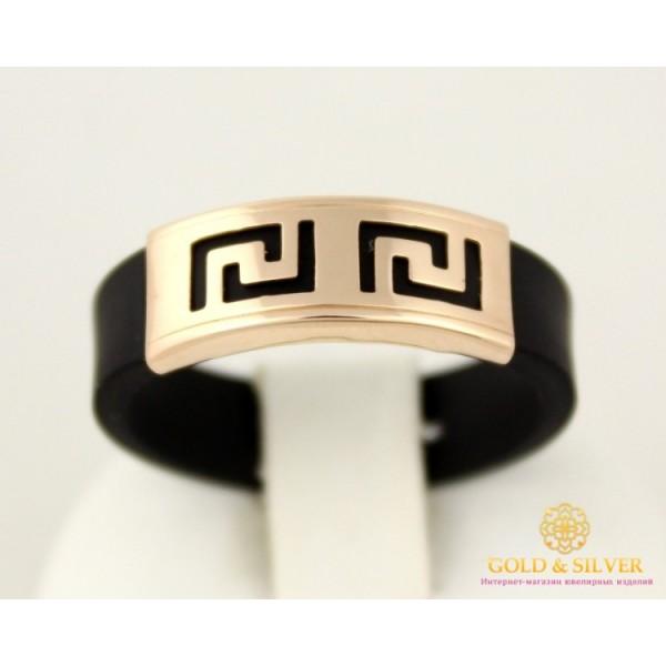 Золотое кольцо 585 проба. Кольцо унисекс с красного золота  с каучуком. 900619 , Gold &amp Silver Gold & Silver, Украина