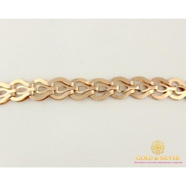 Золотой Браслет 585 проба. Браслет с красного золота, плетение Фараон 4,58 грамма 20 сантиметров 810071 , Gold & Silver Gold & Silver, Украина