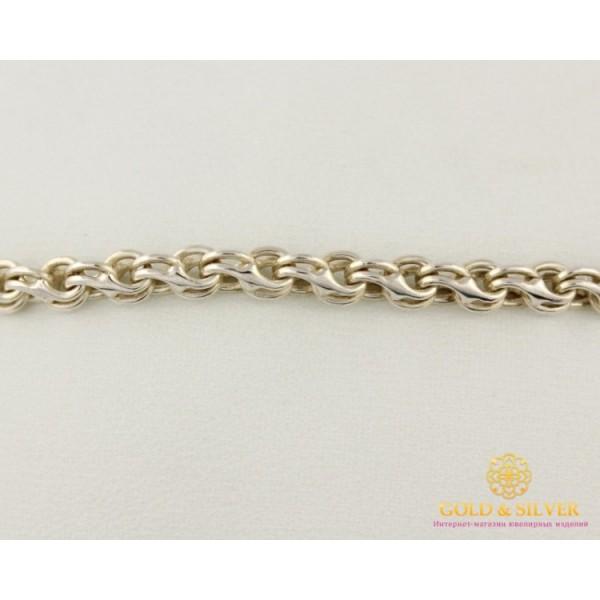 Серебряный Браслет 925 проба. Браслет Унисекс Ручеек 4054/2 , Gold & Silver Gold & Silver, Украина