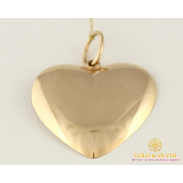 Золотой Кулон 585 проба. Подвес с красного золота, Сердце 100459 , Gold & Silver Gold & Silver, Украина