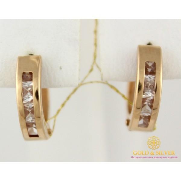 Золотые Серьги 585 проба. Женские серьги с красного золота, конго мини широкие 1,87 грамма 470324 , Gold & Silver Gold & Silver, Украина