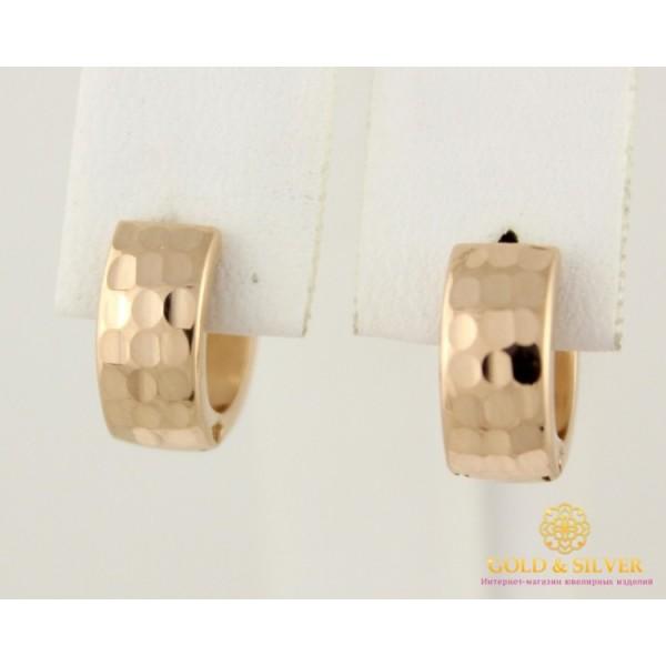 Золотые Серьги 585 проба. Женские серьги с красного золота, конго мини широкие 1,42 грамма 470333 , Gold &amp Silver Gold & Silver, Украина