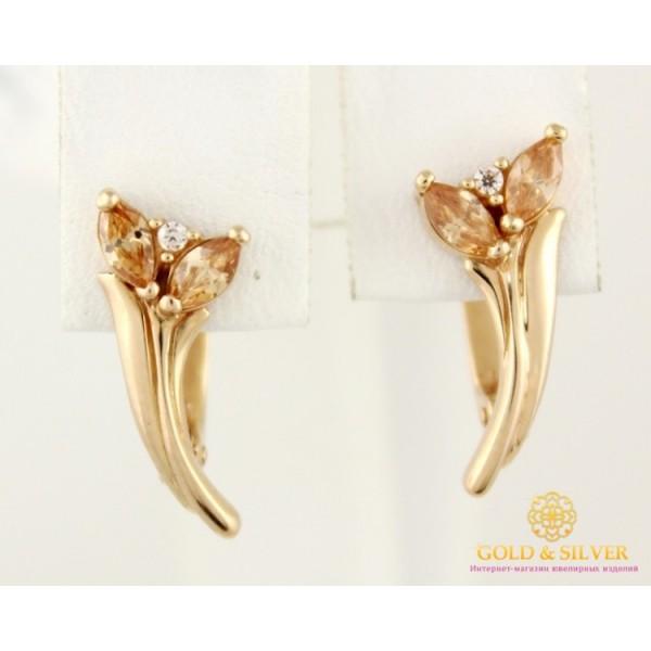Золотые серьги 585 проба. женские Серьги тюльпаны с красного золота. 2,97 грамма 23153 , Gold & Silver Gold & Silver, Украина
