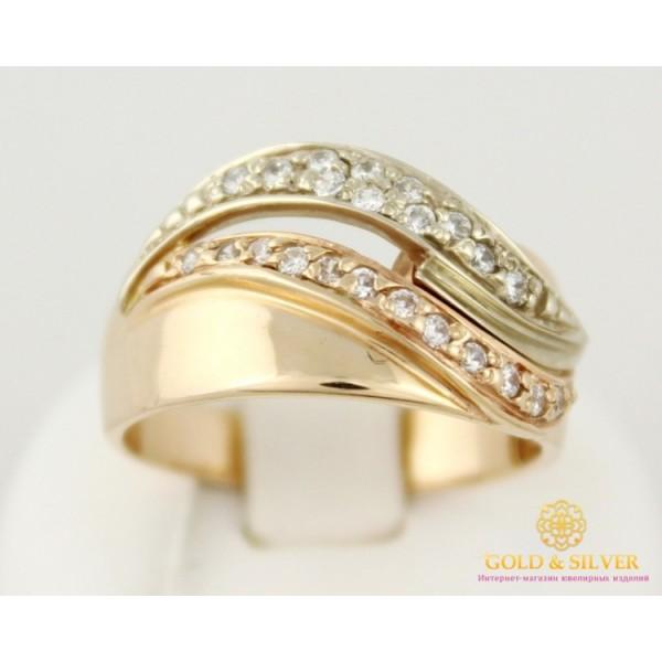 Золотое кольцо 585 проба. Женское Кольцо 6,77 грамма 19,5 размер кв822 , Gold &amp Silver Gold & Silver, Украина